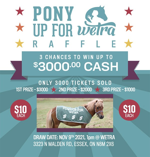 Pony Up for WETRA Raffle